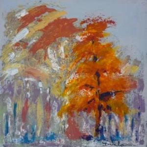 """"""" Arbre orange """" ( Danielle VERLAINE )"""
