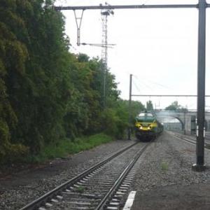 La locomotive Diesel prete a intervenir en cas de probleme pour la 29.013
