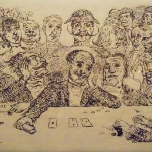 """James ENSOR  """" Au Casino """""""