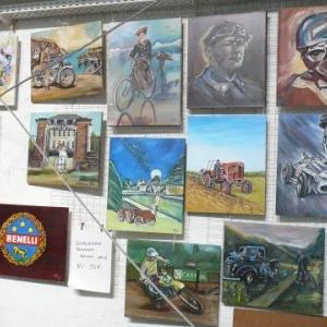Peintures traitant de vehicules roulants