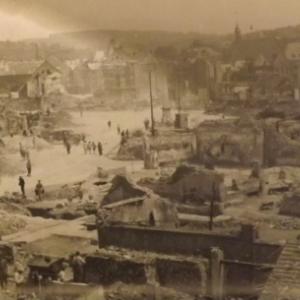 La ville apres les bombardements de 1944