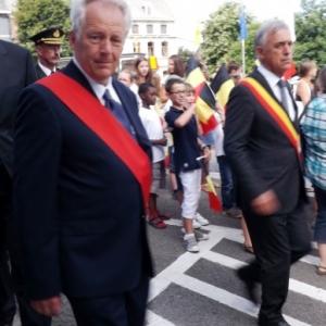 M. A. Stassen, Commissaire d'arrondissement et  M. Foret, Gouverneur de la Province