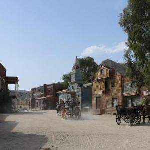 """AW 020020 Tabernas : le paysage desertique de la region a permis la realisation de nombreux films westerns tels """"Le bon, la brute et le truand"""", """"Lawrence d Arabie"""", """"Indiana Jones"""", ainsi que des publicites."""