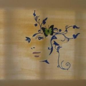 """"""" Dans le vent """" Surrealisme ( Rose - Marie PAQUAY )"""