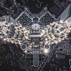 17 Structure extraterrestre, Petronas Towers, Kuala Lumpur, Malaisie © Tomasz Kowalski - Drone Awards 2020