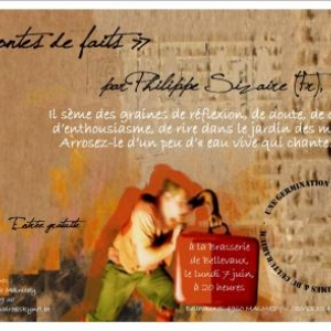 MALMEDY                             « Contes de faits » de Philippe Sizaire à la Brasserie de Bellevaux