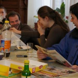 Simon ( belge et responsable du groupe ) et Gesa ( Allemagne )
