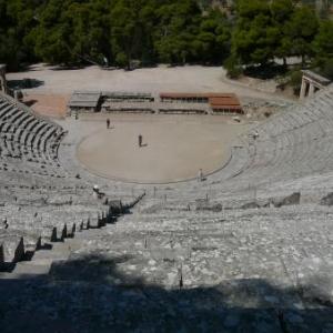 Le magnifique theatre d'Epidaure