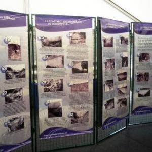 A VOIR l'exposition retrospective du barrage ( Organisation :  Malmedy - Folklore )
