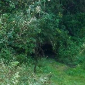 L'entree du tunnel du canal de Bernistap ( 1 m à l 'entree )
