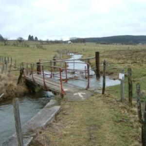 Remplacement de la passerelle sur la Warche entre Honsfeld et Hunningen (AC Bullingen) Avant
