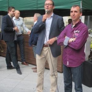 JP Bastin, bourgmestre, accuerille le representant des forains