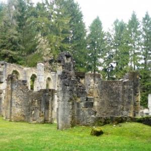 Les ruines actuelles de l' eglise  de Louvemont