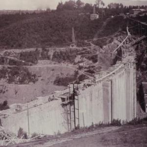 Cote amont du barrage