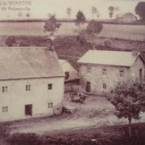 """L'appellation """" Moulin de Robertville """" qu'on la retrouve sur la plupart des cartes postales"""