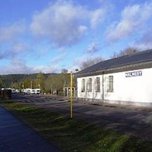 Ancien bâtiment de la gare de 1885 devenu halle à marchandises en 2012