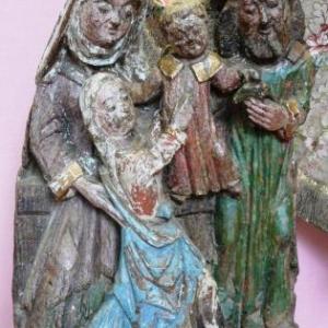 Le fragment de retable en chêne  ( 1501 - 1510 )