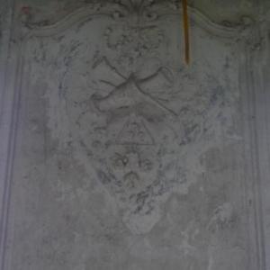 Decoration murale dans l'escalier