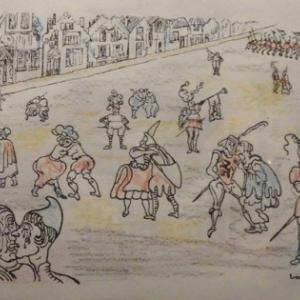 """James Ensor  """" Scene medievale """""""