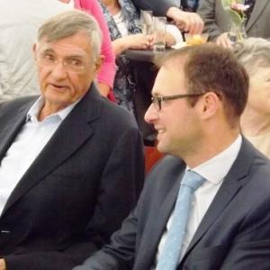 F. HERBRAND et JP BASTIN, bourgmestre