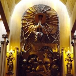 Le retable een bronze de la chapelle du Sacre-Coeur dite Chapelle des mariages