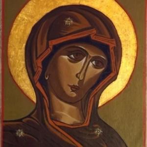 La Vierge Marie ( realise lors d' un premier stage )
