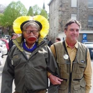 Raoni et son ami, JP Dutilleux