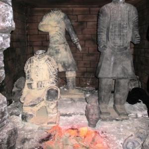 Un four pour la cuisson des statues d'argile