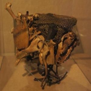 Sac de chamane contenant des outils de divination pour appeler les esprits