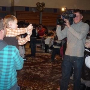 4eme jeudi gras : bal des enfants ( Club wallon )  La RTBF enregistre pour son emission  Au Quotidien