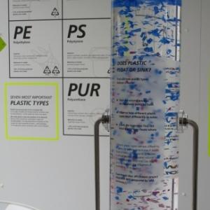 Les microplastiques au fond et les microplastiques flottent