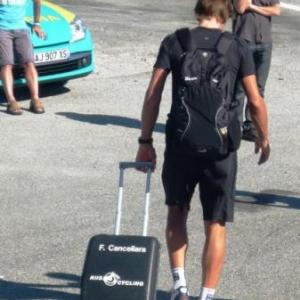 Fabian CANCELLARA et son bagage