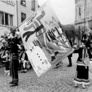 Archives Mesnie 1966  Premiere sortie, premier drapeau
