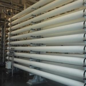 Les lignes de tubes de nanofiltration, chacun contenant 6 membranes