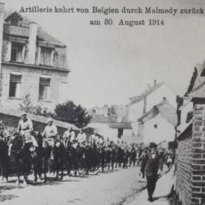 Entree de l'artillerie allemande dans Malmedy