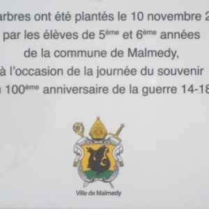 La plaque explicative