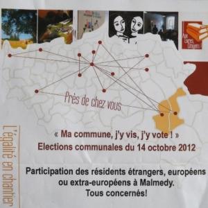 MALMEDY                          Ma commune, j'y vis, … j'y vote !