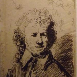 Autoportrait nu - tete et buste ( 1629 )