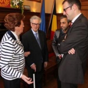 Reception communale avec le Bourgmestre et l'Echevin Ercel Kaynak( photo de Michael ALMER )
