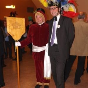 Reception de l'Orde do Cwarme : le Trouv'le a qui le Bourgmestre, Jean-Paul BASTIN, a remis les cles de la ville pour 4 jours