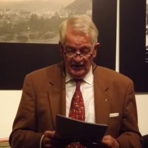 M. Halleux, president, lors de son allocution