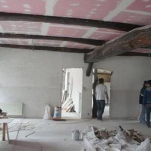 Le chantier du premier etage