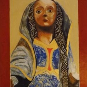 Marie Madeleine, pecheresse ( realisation personnelle sur base d'une statue polychrome