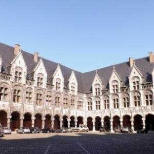 Liege : le Palais des Princes - Eveques ( Cour interieure )