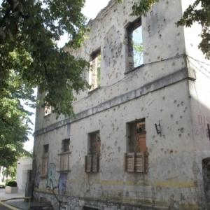 Mostar : sequelles de la guerre
