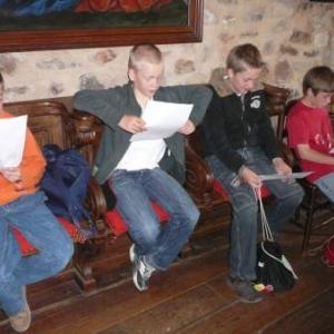 Initiation chorale dans la chapelle