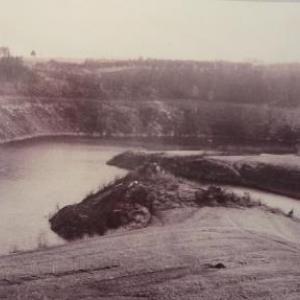 Ce panorama a ete pris du pont de Haelen vers l'aval du barrage