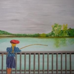 """"""" Die Fisherin """" ( Carinne MEYER )"""