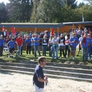 Spectateurs au lac de Robertville  ( Photo de Michel PIETTE )