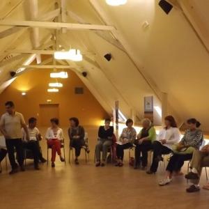 Des auditeurs et acteurs de la seance d'information